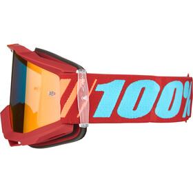 100% Accuri Anti Fog Mirror Goggles, dauphine